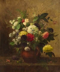 floral still life by jean alexandre rémy couder