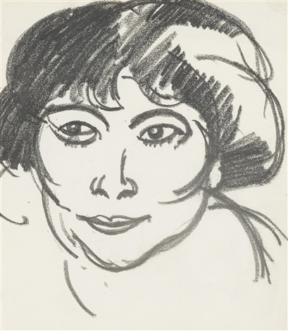womans head by john duncan fergusson