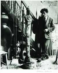 giacometti dans son atelier by denise colomb