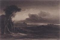 figure walking through an extensive landscape by samuel jackson