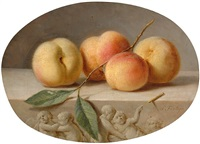 still life with peaches by pieter fontijn
