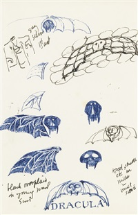 Group of sketches for Dracula