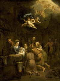 the adoration of the shepherds by françois verwilt