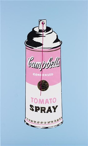 spray can painting by mr. brainwash