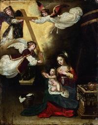les anges présentent à l'enfant jésus les instruments de la passion by pierre brebiette