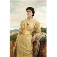 the lady in the yellow dress by charles edward perugini