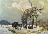 le degel (the thaw) by léon esperance broquet