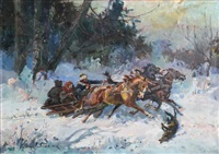 winter sleigh ride by julius stabiak