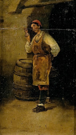 el catador de vino by joaquín agrasot y juan