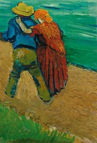 eglogue en provence - un couple d'amoureux by vincent van gogh