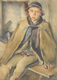 portret młodego górala by aleksander augustynowicz