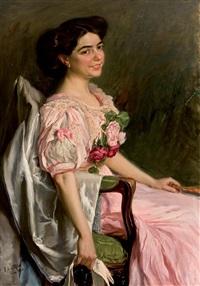 retrato de dama by fabian de la rosa