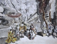 scène japonaise avec samouraïs by max jacob