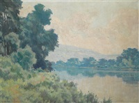 river landscape by george agnew reid