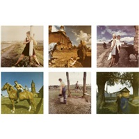 a group of six colour photographs (6 works) by sergey chilikov