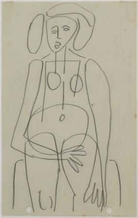 untitled (nude) by john anthony (tony) tuckson
