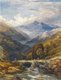 vale of dolwyddelan, north wales by charles bentley