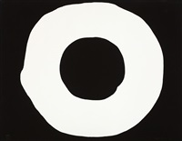 white circle on black by jiro yoshiwara