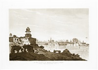 a view of part of the ruins of the city of agra (+ 5 others; 6 works) by william hodges