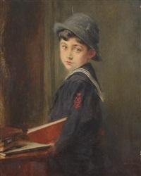 petit garçon en costume marin by alexis vollon