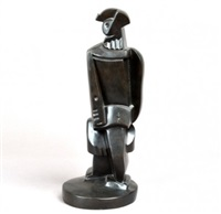abstract standing figure by jacques lipchitz