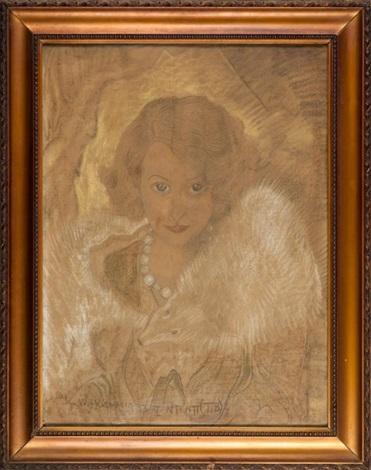 portret kobiecy irena solska by stanislaw ignacy witkiewicz