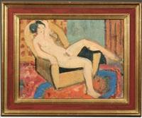 nu au fauteuil, la femme de l'artiste by mikao kono