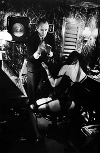 bernardin and stripper, paris by frank horvat