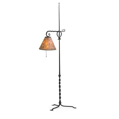 Adjustable Floor Lamp By Samuel Yellin