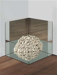 nonsite petrified coral with mirrors by robert smithson