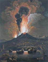 eruption du mont etna (by f. weber) by alessandro d' anna