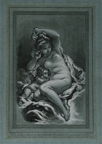venus und amor (after boucher) by louis marin bonnet
