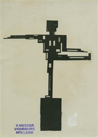 mechanic dancing figure (3 works) by vilmos huszar