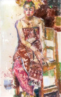 seated woman by s. yadi