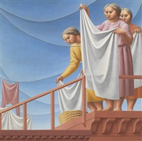 laundresses (the laundress) by george tooker