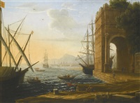 a mediterranean seaport by claude lorrain