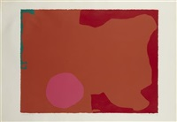 magenta disc, red edge by patrick heron
