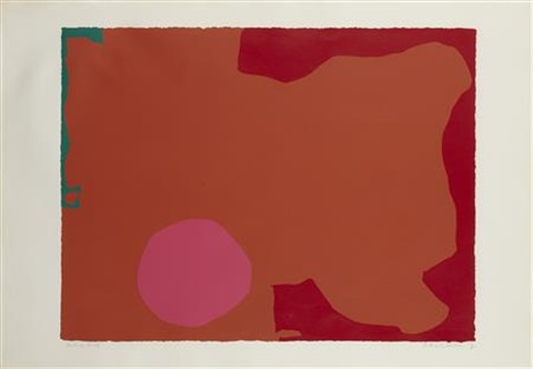 magenta disc red edge by patrick heron