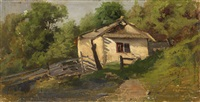 ukrainian hut on a sunny day by sergei ivanovich vasil'kovsky