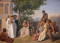 homère (preparatory study) by jean-baptiste auguste leloir