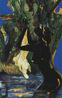 mecklenburg bather by romare bearden