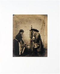 two figures drawing water from a well (o.g. rejlander and model) by oscar gustave rejlander