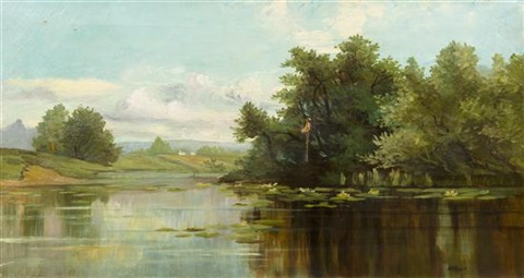 summer pond by alexander helwig wyant