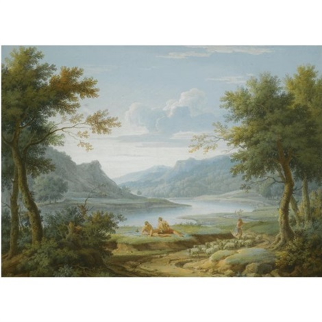 classical landscape by george lambert