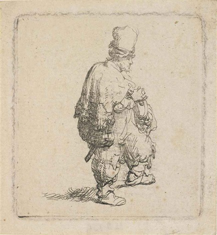a polander with arms folded by rembrandt van rijn