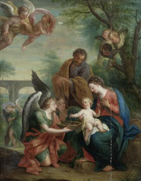 the rest on the flight into egypt (after giuseppe bartolomeo chiari) by jacob andries beschey