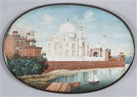 vue du taj-mahal, agra by anglo-indian school (19)