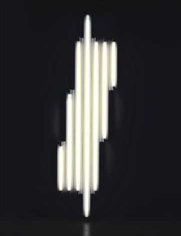 untitled monument for v tatlin by dan flavin