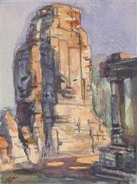 india, column in bayana by aleksandr yakovlevich golovin