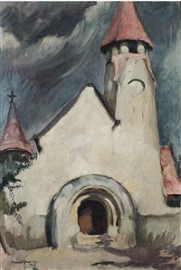 untitled (hungarian village church) by amrita sher-gil